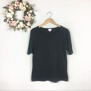 Lularoe Classic Rare Solid Black Tshirt